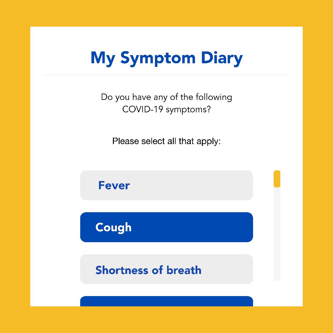 Crush COVID app screen